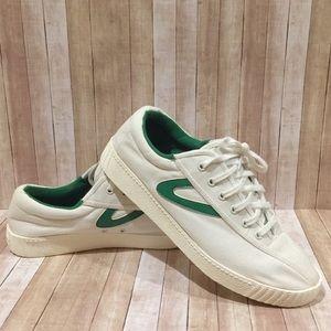 Tretorn NY Lite Plus Vintage White Green Sz 8.5